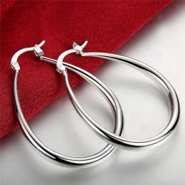 925 kolor srebrny biżuteria gładka koło 925 srebrne kolczyki koła dla kobiet najlepszy prezent hurtownie wysokiej wysokiej jakoś