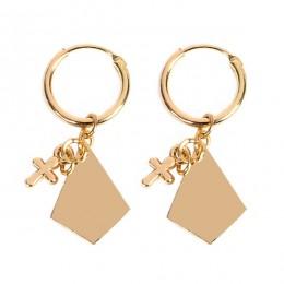 Niekończące się hoop kolczyki dla kobiet chrząstki krzyż kolczyk w kształcie serca kolczyki koła w kolorze złota biżuteria preze