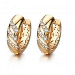 MISANANRYNE klasyczne projekt złoty kolor AAA CZ Hoop kolczyki ślubne dla kobiet moda biżuteria projekt akcesoria do prezentów
