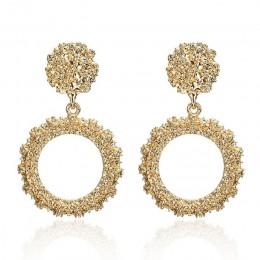 Okrągłe kolczyki w stylu Vintage dla kobiet złota/srebrny kolczyki moda biżuteria kolczyki deklaracji 2019 nowoczesne moda biżut
