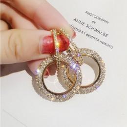 Nowy projekt kreatywny biżuteria wysokiej jakości eleganckie kolczyki kryształowe okrągłe złote i srebrne kolczyki wedding party