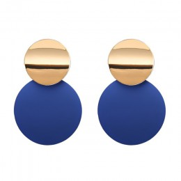 Modne kolczyki 2019 metalowe okrągłe geometryczne kolczyki dla kobiet kolczyki wiszące Drop kolczyk nowoczesna biżuteria Pun