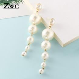ZWC moda nowych kobiet akrylowe spadek kolczyki Hot sprzedaży długą zwisające kolczyki prezent dla kobiet Party biżuteria ślubna