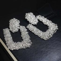 ZA Boho Vintage kolczyki dla kobiet kryształowa gwiazda kwiatowa serce wiszące kolczyki duże długie kolczyki oświadczenie czeska