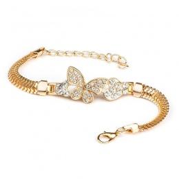 QCOOLJLY Kobiet Jubiler Akcesoria Wielu Wzory Złoty Kolor Stop Kryształ & Rhinestone Flash Mankiet Łańcuch bransoletka wrap bran
