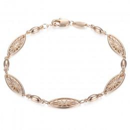 20cm bransoletki dla kobiet mężczyzn 585 Rose złota Curb ślimak ber wenecki Link łańcuchy męskie bransoletki biżuteria prezenty