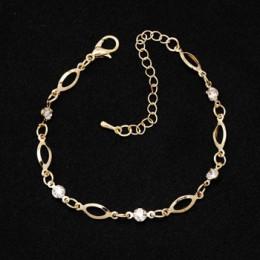 2018 moda kryształ Charm bransoletki dla kobiet złoty kolor Link Chain bransoletka mankietów bransoletki biżuteria pulseras wale
