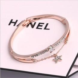Luksusowe znane marki biżuteria różowe złoto bransoletki ze stali nierdzewnej i bransolety kobiet serce na zawsze bransoletka lo