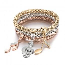 3 sztuk drzewo życia bransoletka kryształ sowa kotwica muzyka uwaga chłopiec dziewczyna serce Charm bransoletki dla kobiet Pulse