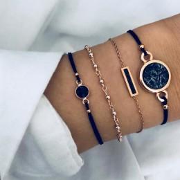 Modny zestaw cieniutkich bransoletek damskich celebrytki oryginalne wzory serca gwiazdki stylowa biżuteria