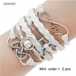 Nowa biżuteria nieskończona podwójna skóra wielowarstwowe Charm bransoletka fabryka cena dla kobiet biżuteria sprzedaż hurtowa