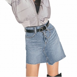 Kobiety Unisex Projektant Przesadzone Okrągłe Metalowe Kółko Pasy Punk Jeans Pas Duże O Pierścień pasa dla Kobiet Ubrania Akceso