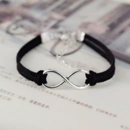 OBSEDE Moda nieskończoność bransoletka Ręcznie tkane Liny 15 Kolor srebrny Koreański Velvet bransoletka Moda Okład Pasek Ze Skór
