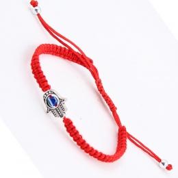 OPPOHERE 1 pc Red String Hamsa Ręcznie Evil Eye Szczęście Kabała Boho Festiwal Chic Bransoletka