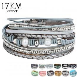 26 projekt w stylu Vintage wielu warstw skórzana bransoletka dla kobiet mężczyzn nowy koralik perły Charms bransoletki 2019 Femm