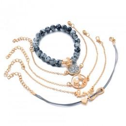 DIEZI czeski Turtle Charm bransoletki bransoletki dla kobiet moda złoty kolor Strand bransoletki zestawy biżuteria Party prezent