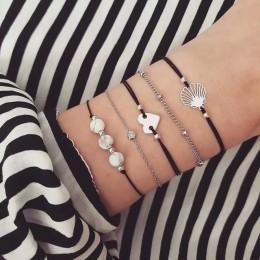 2019 czeski bransoletki i zestaw bransoletek w stylu Vintage koralik Boho Charm bransoletka dla kobiet biżuteria akcesoria Pulse