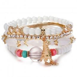 Kryształ koralik bransoletki dla kobiet w stylu Vintage bransoletka damska biżuteria Tassel naturalny kamień Charms nadgarstek p