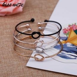KISSWIFE 4-kolor oryginalny design czysta miedź odlewania miłość węzeł otwórz metal bransoletka bransoletka bransoletka miłość