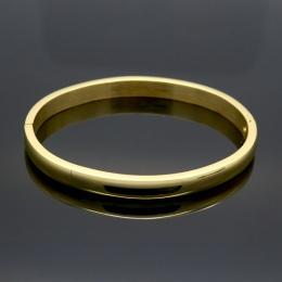 Prosta Gładka Para Biżuteria Ze Stali Nierdzewnej Wzrosła Złoty Kolor Lover Bangle Zwykły Miłość Bransoletki i Bangles Dla Kobie