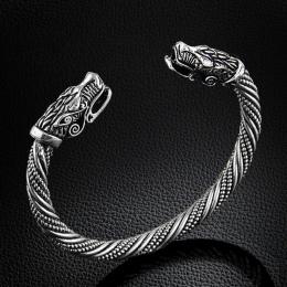 LAKONE Nastolatek Wilk Szef Bransoletka Indyjska Biżuteria Akcesoria Mody Viking Bransoletka Mężczyzn Wristband Mankietów Branso