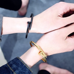 Pulsera bransoletki Miedzi Miłość Bransoletki dla Kobiet Złota Biżuteria Ze Stali Nierdzewnej Śruba Bransoletka Pulseiras Femini