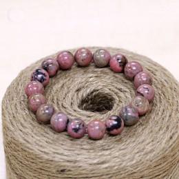 STENYA 6-8mm bransoletka Stretch przewód elastyczny klejnot kamień naturalny różowy czarny rozbudowy biżuteria Pulseras Rhodochr