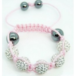 Dobre! TGRFED micro pave CZ koraliki Disco Ball bransoletka ładne dzieci prezent biżuteria rabat. kryształowe