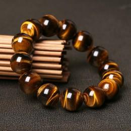 Moda 5A naturalne oko tygrysa kamień bransoletki i bransoletka dla kobiet i mężczyzn bransoletki prezent koraliki bransoletki ak