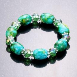 Modny amazonit naturalny kamień streche bransoletka elastyczna pulserase mężczyźni kobiety moda koraliki do biżuterii stworzone