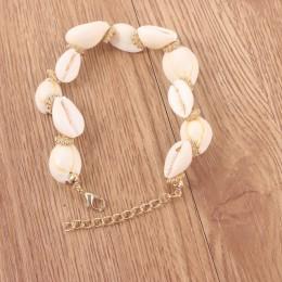 Boho z muszelek bransoletka wosk liny bransoletka przyjaźni 2019 boże narodzenie prezenty dla kobiet biżuteria naturalne shell k