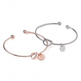 Kobiety kreatywny proste początkową bransoletkę węzeł 26 litery Dzikie girlfriends bransoletka miłość otwarcie bransoletka druhn