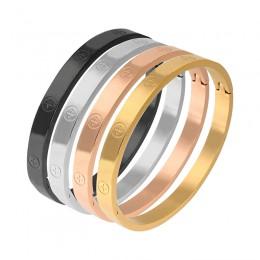 Trendy luksusowa marka ze stali nierdzewnej bransoletka bransoletka kobieta mężczyzna różowe złoto kolor opasek na rękę prezent