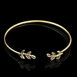 L163 nowa moda otwarte bransoletki typu bangle Pulseiras mężczyzn Punk liście mankietów bransoletki i Bangles dla kobiet biżuter