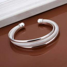 Posrebrzane kolor urok otwórz bransoletka bransoletka biżuteria dla kobiet 2017 Hot sprzedaży