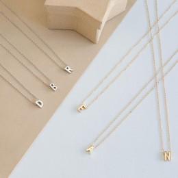 Moda Tiny Dainty początkowej spersonalizowane Metal list Choker naszyjnik dla kobiet złoty/srebrny kolor wisiorek kołnierz biżut