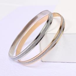 2018 Moda Koreański biżuteria hurtowych mody podwójnym pierścieniem matte różowe złoto bransoletka bangle bransoletka kobiet-jed