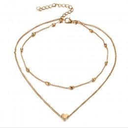 RscvonM marki Stella wisiorek z dwoma rogami serce naszyjnik złota Dot LUNA naszyjnik kobiety faza serca naszyjnik Drop shipping