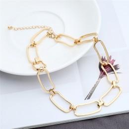 Ingemark koreański słodki naszyjnik typu choker z sercem wyróżniający się naszyjnik prezent dla dziewczyny śliczny złoty srebrny