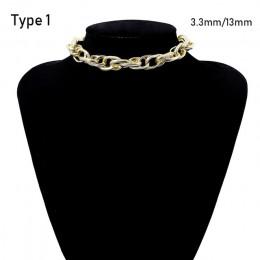 SHIXIN Punk przesadne metali ciężkich duży gruby choker łańcuszek naszyjnik kobiety Goth moda noc klub biżuteria kobiet choker C