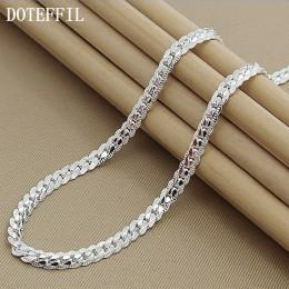 Nowości kobiety 6MM w całości bokiem 925 srebrny naszyjnik ze srebra próby 925 kolor moda biżuteria kobiety łańcuszek męski pani