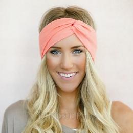 Turban Twist Pałąk dla Kobiet Łuki Elastyczna Sport Szef Zespołu Joga Opaski Hairbands Headwrap Nakrycia Głowy Dziewczyny Akceso