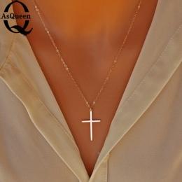 Mały Złoty Krzyż Wisiorek Naszyjnik Kobiety Dziewczyny Dzieci, Mini Charm Kolor Złoty Wisiorek Biżuteria Krucyfiks Christian Ozd