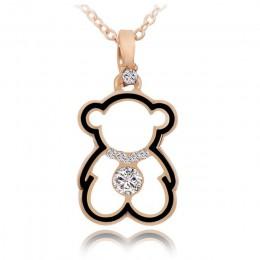 Trendy śliczne niedźwiedź naszyjniki wisiorek dla kobiety złoty sześcienne za pomocą tego narzędzia online bez naszyjnik z cyrko