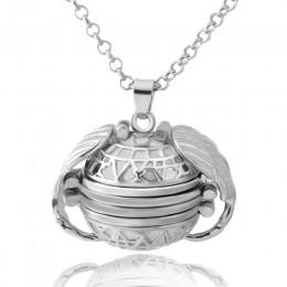 DIY Flash pamięci zdjęcie wisiorek – biżuteria antyczne srebro cztery kolor Angel Wings medalion naszyjnik moda kobiety romantyc