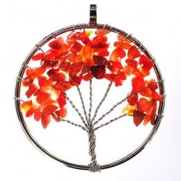 7 Chakra kwarcowy kamień naturalny drzewo życia pendulum wisiorek naszyjnik dla kobiet uzdrowienie kryształowe naszyjniki wisior
