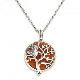 MODKISR drzewo życia 30mm wysokiej jakości dyfuzor aromaterapii magnetyczne biżuteria medalion wisiorek OLEJEK ETERYCZNY zapach