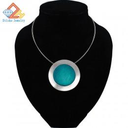 Najwyższej jakości moda naszyjniki naszyjnik zestaw niebieski kawy szary emalia wisiorki