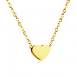 LUXUSTEEL serce wisiorki ze stali nierdzewnej złoty kolor krótki łańcuszek naszyjnik choker damski kołnierz Bijoux Collier najle