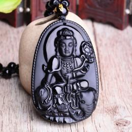 Czarny obsydian sześć gwiazdek szczęście Amulet miłość naturalny kamień wisiorek naszyjnik dla kobiet mężczyzn miłość kryształ P